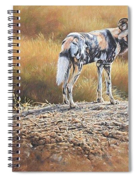 Spiral Notebook featuring the painting Cape Hunting Dog by Alan M Hunt
