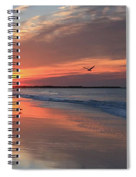 Cape May Nj Morning After The Storm Spiral Notebook