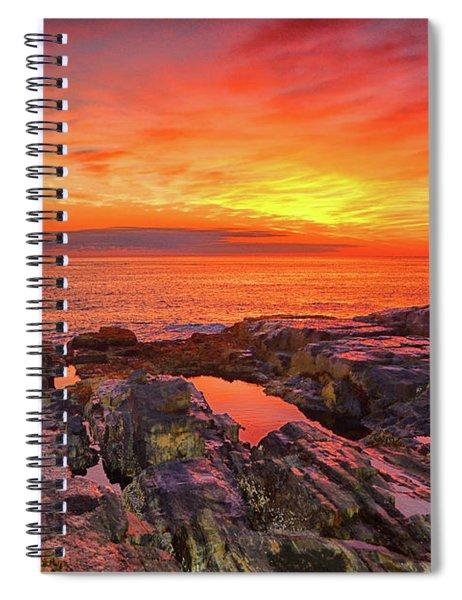 Cape Neddick Sunrise Spiral Notebook