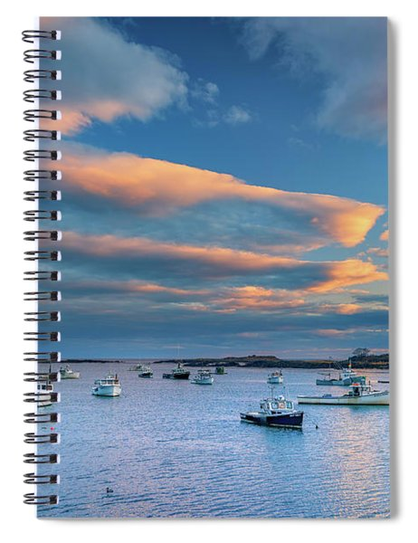 Cape Porpoise Harbor At Sunset Spiral Notebook