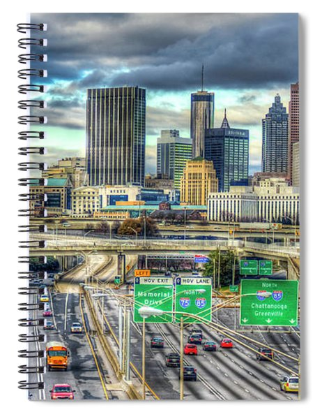 Capital Of The South Atlanta Skyline Cityscape Art Spiral Notebook