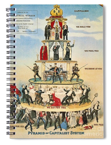 Capitalist Pyramid, 1911 - To License For Professional Use Visit Granger.com Spiral Notebook