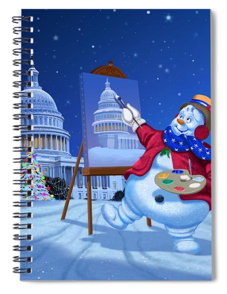 Capitol Christmas Spiral Notebook
