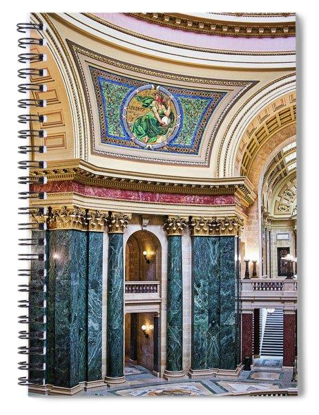 Capitol Rotunda -madison - Wisconsin Spiral Notebook