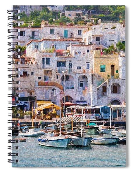 Capri Boat Harbor Spiral Notebook
