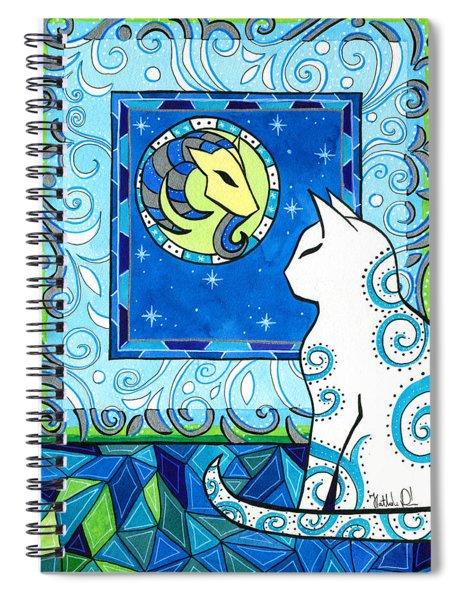 Capricorn Cat Zodiac Spiral Notebook