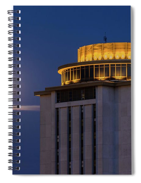Capstone House And Full Moon Spiral Notebook