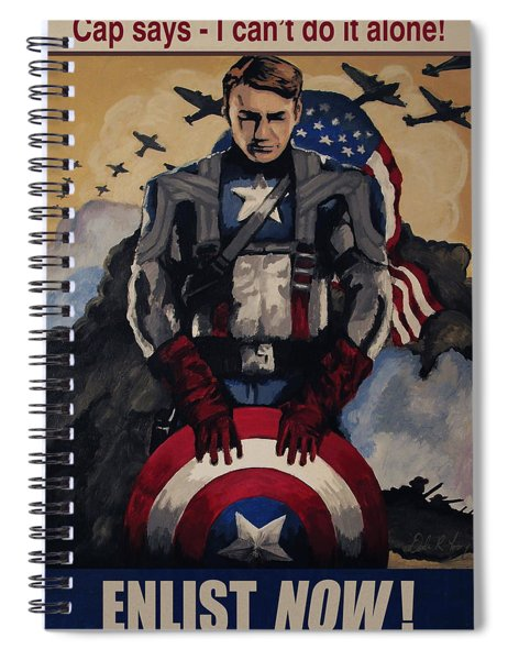 Captain America Recruiting Poster Spiral Notebook