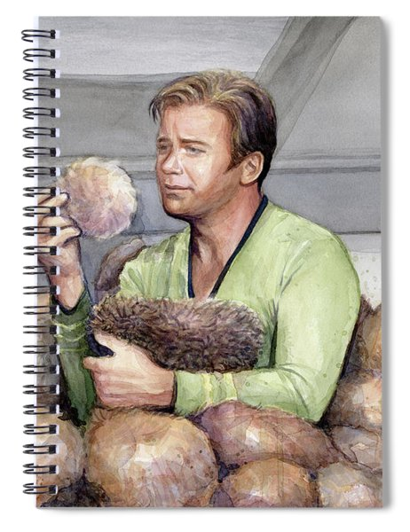 Captain Kirk And Tribbles Spiral Notebook
