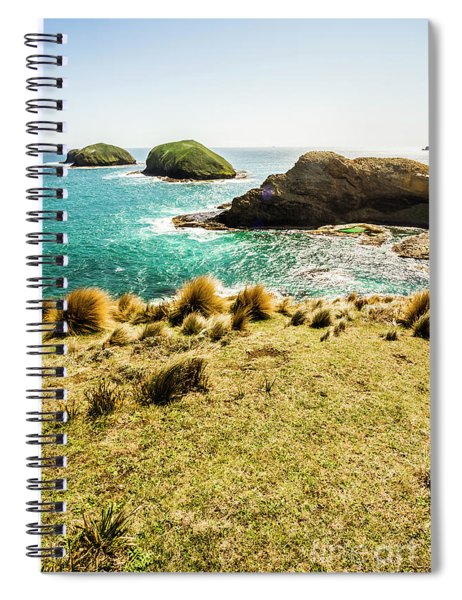 Captivating Coastal Cliff Spiral Notebook