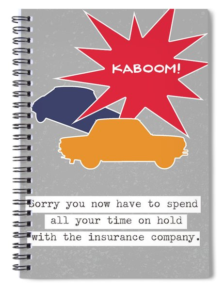 Car Accident Card- Art By Linda Woods Spiral Notebook
