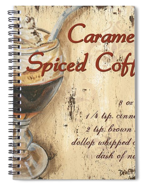 Caramel Spiced Coffee Spiral Notebook