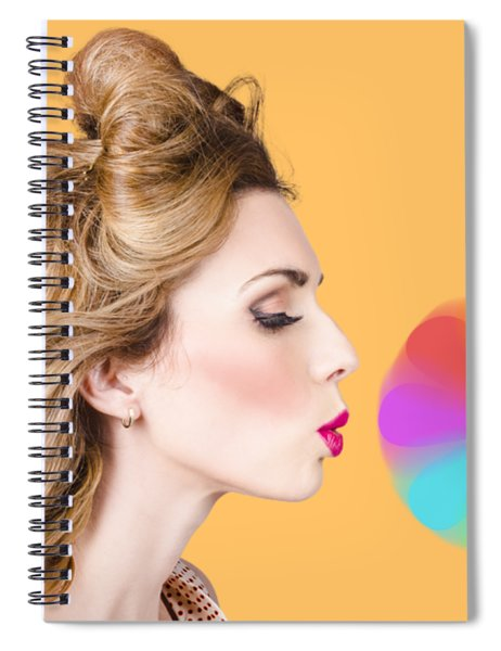 A Motion Of Colours Spiral Notebook