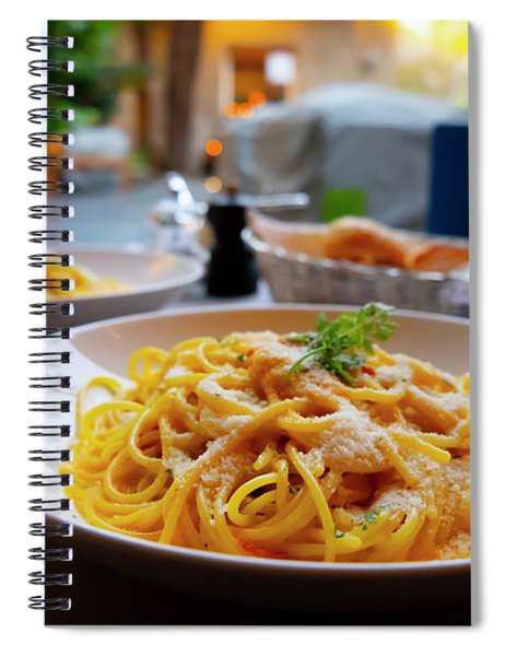 Carbonara Spaghetti Spiral Notebook
