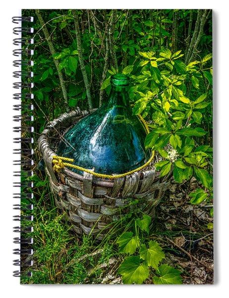 Carboy In A Basket Spiral Notebook