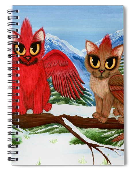 Cardinal Cats Spiral Notebook