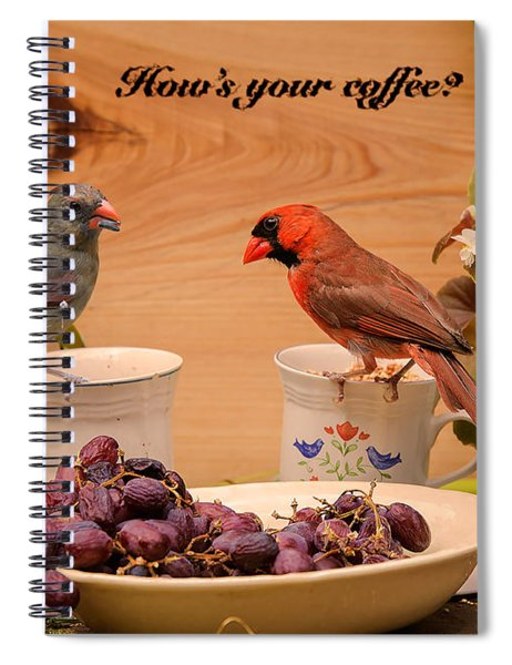 Cardinal Coffee Spiral Notebook