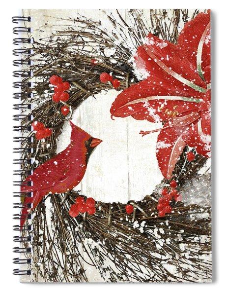 Cardinal Holiday I Spiral Notebook