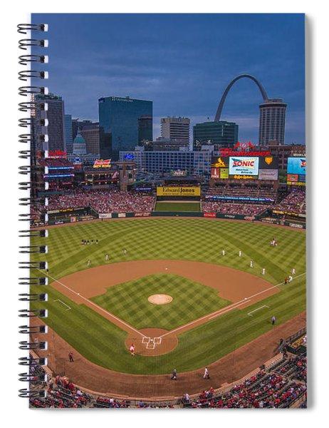 Cardinal Nation Busch Stadium St. Louis Cardinals Twilight 2015 Spiral Notebook
