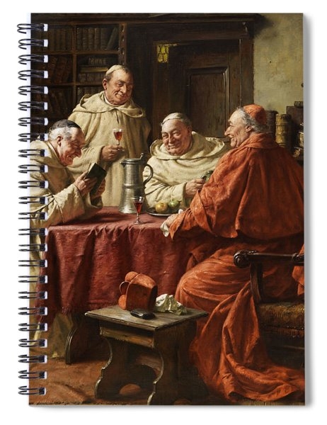 Cardinal With Monks Spiral Notebook