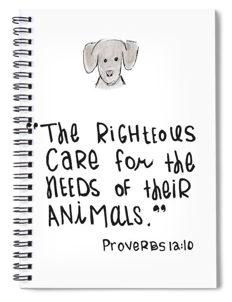Care For Animals Spiral Notebook