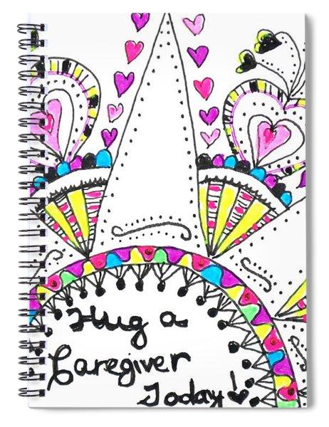 Caregiver Crown Of Hearts Spiral Notebook