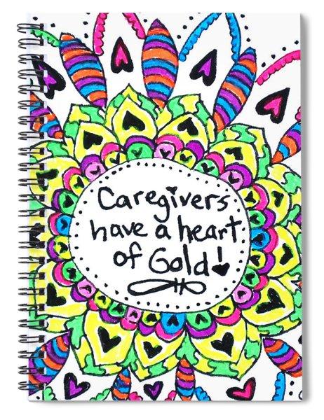 Caregiver Flower Spiral Notebook