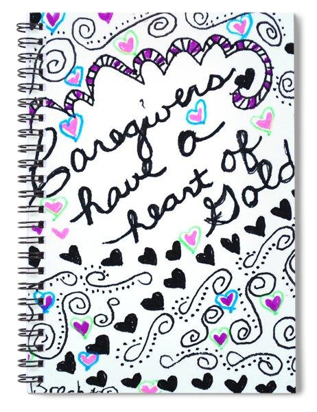 Caregiver Hearts Spiral Notebook