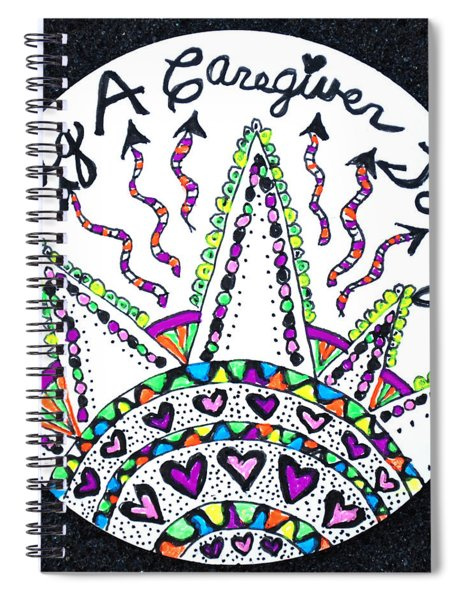 Caregiver Hugs Spiral Notebook