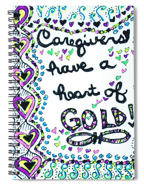 Caregiver Joy Spiral Notebook