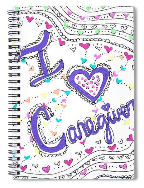 Caring Heart Spiral Notebook