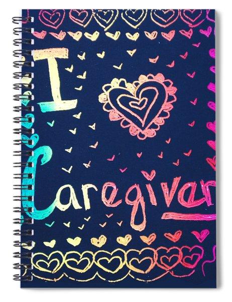Caregiver Rainbow Spiral Notebook