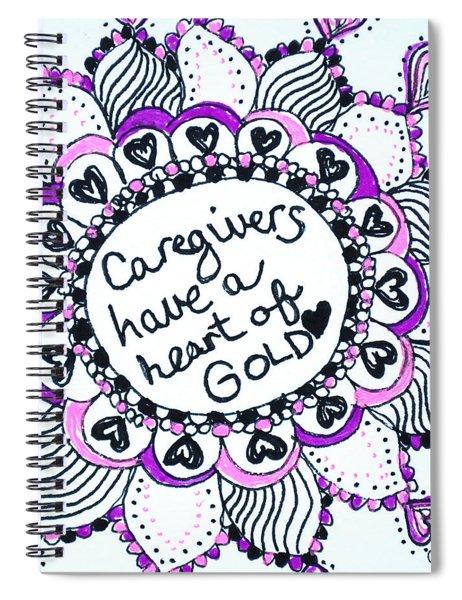 Caregiver Sun Spiral Notebook