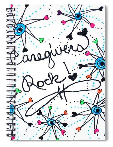 Caregivers Rock Spiral Notebook