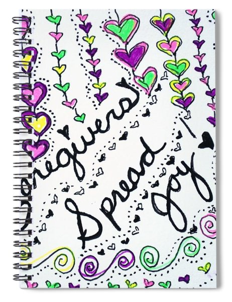 Caregivers Spread Joy Spiral Notebook