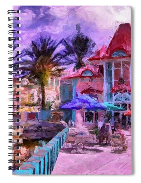 Caribbean Beach Resort Spiral Notebook