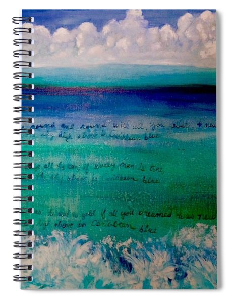 Caribbean Blue Words That Float On The Water  Spiral Notebook
