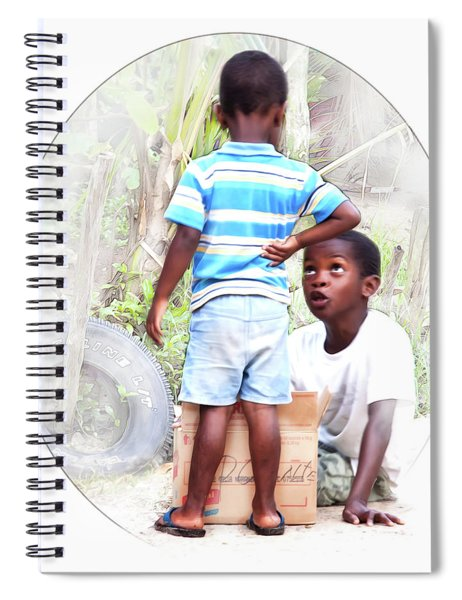 Caribbean Kids Illustration Spiral Notebook