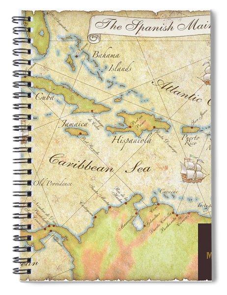 Caribbean Map II Spiral Notebook
