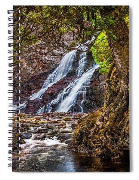 Caribou Falls In Fall Spiral Notebook