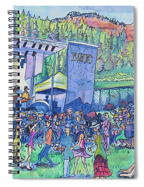 Caribou Mountain Collective At Yarmonygrass Spiral Notebook