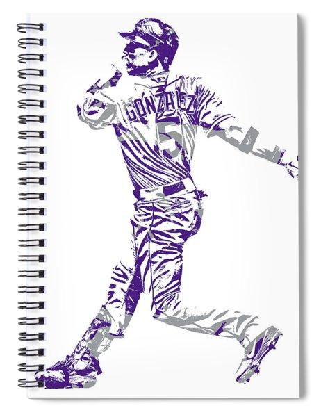 Carlos Gonzalez Colorado Rockies Pixel Art 11 Spiral Notebook