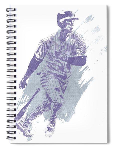 Carlos Gonzalez Colorado Rockies Water Color Art 1 Spiral Notebook