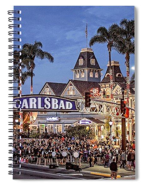 Carlsbad Village Sign Lighting Spiral Notebook