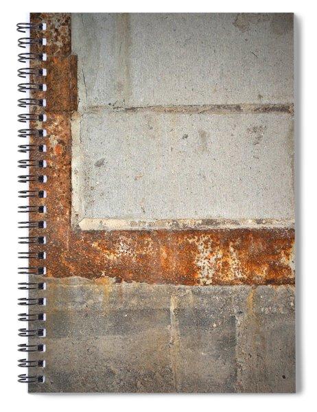 Carlton 14 - Abstract Concrete Wall Spiral Notebook