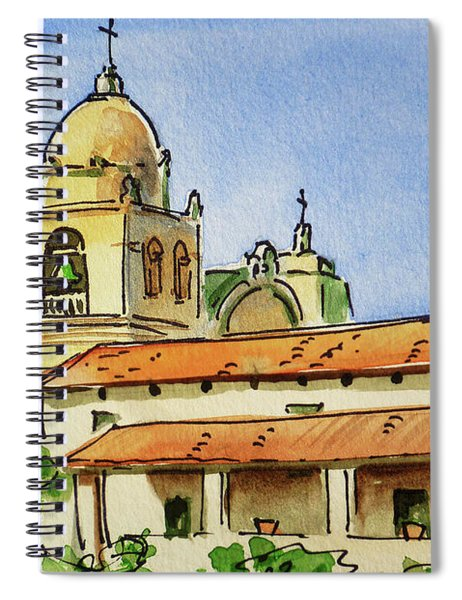 Carmel By The Sea - California Sketchbook Project  Spiral Notebook