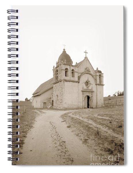 Carmel Mission South Side Circa 1915 Spiral Notebook