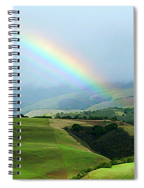 Carmel Valley Rainbow Spiral Notebook