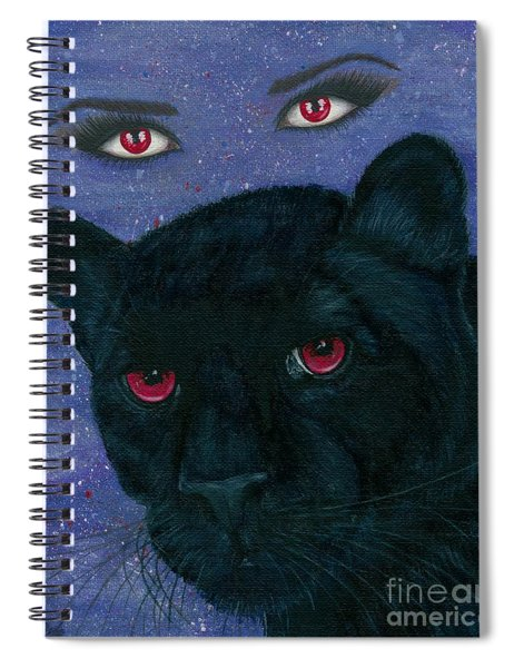 Carmilla - Black Panther Vampire Spiral Notebook