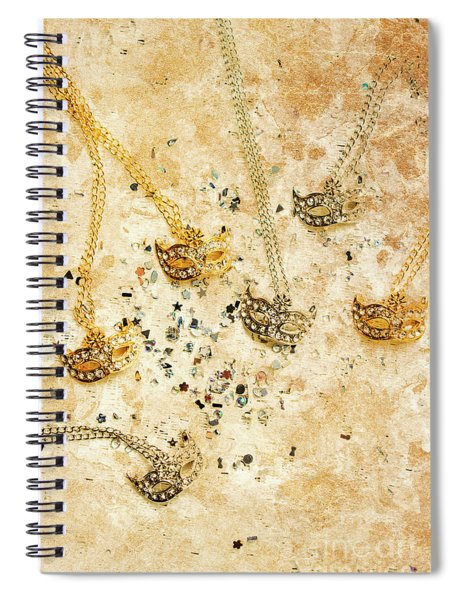 Carnival Masquerade Jewels Spiral Notebook